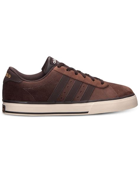 lyst adidas s se daily vulc casual sneakers from finish line in brown for