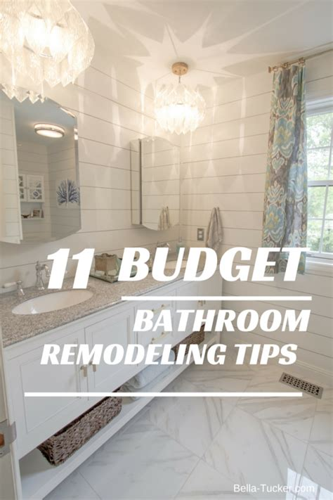 remodel bathroom ideas on a budget bathroom remodeling on a budget bella tucker decorative