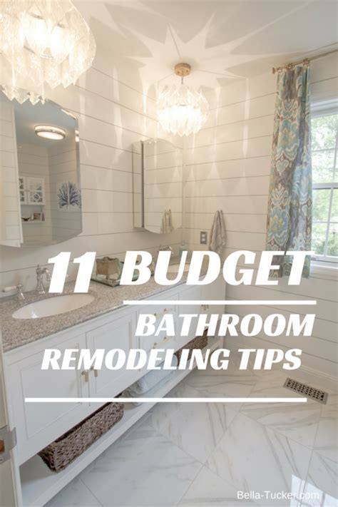 Bathroom Remodeling on a Budget   Bella Tucker Decorative Finishes