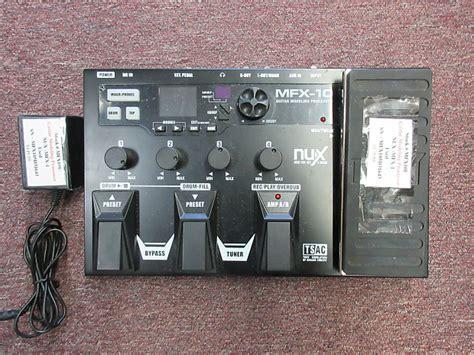 Effect Gitar Nux Modeling Prosessor Mfx 10 used nux mfx 10 guitar modeling processor springfield