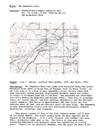 Fond Du Lac County Records Wisconsin Geological History Survey 187 Fond Du Lac County Oakfield T14n