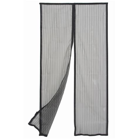 magnetic fly screen curtain pillar products 90 x 200cm black magnetic strip flyscreen