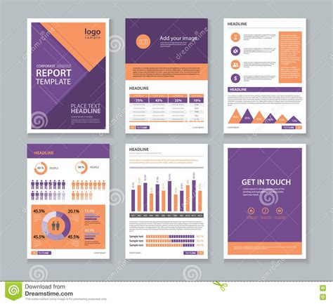 report layout design sles page cover brochure flyer report layout design template