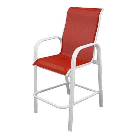 Marco Island White Commercial Grade Aluminum Bar Height Bar Height Patio Chair