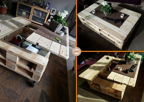 DIY Multifunction Pallet Coffee Table   BeesDIY.com