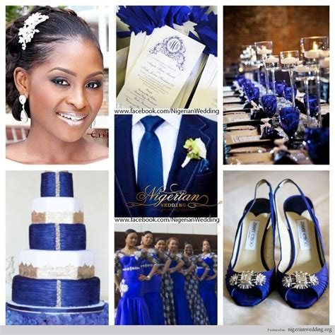 wedding colour themes silver nigerian wedding cobalt blue white and silver wedding