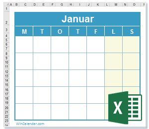 gratis  kalender excelkalendermal