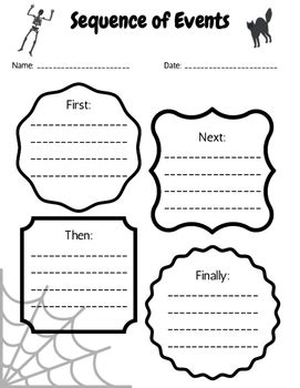 then next finally worksheet theme sequence of events worksheet by emily caldwell tpt