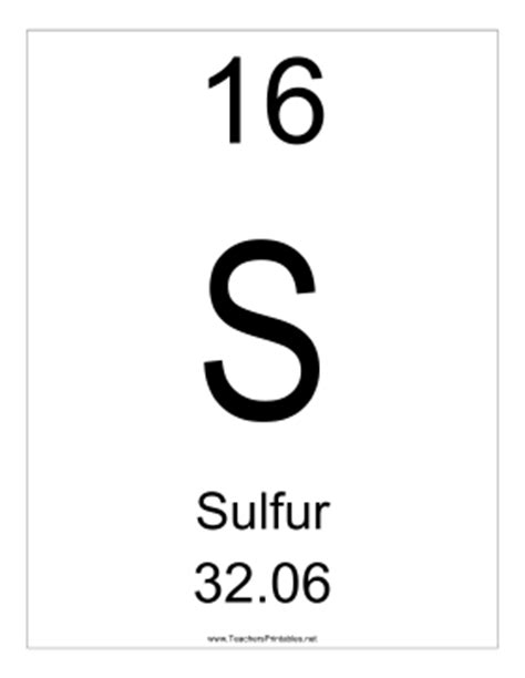 Periodic Table Sulfur by Sulfur
