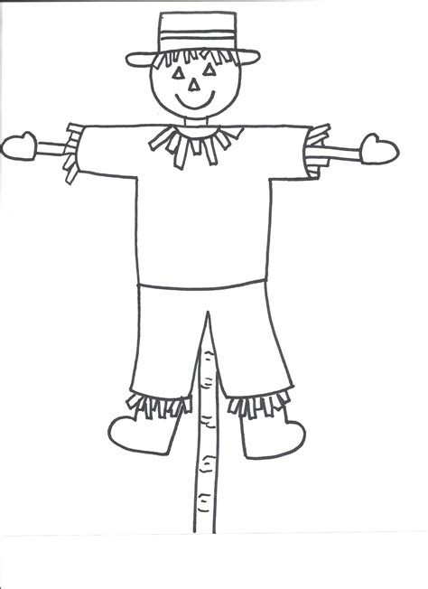 Scarecrow Template templates crafts for preschool