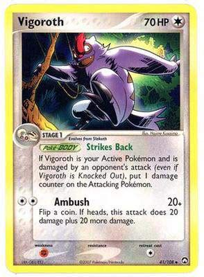 Kartu Trading Card Tcg Vigoroth pokezorworld has nintendo ex power keepers