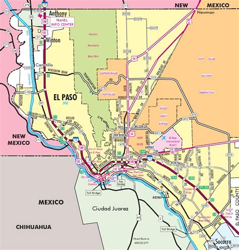 map of el paso county texas el paso road map