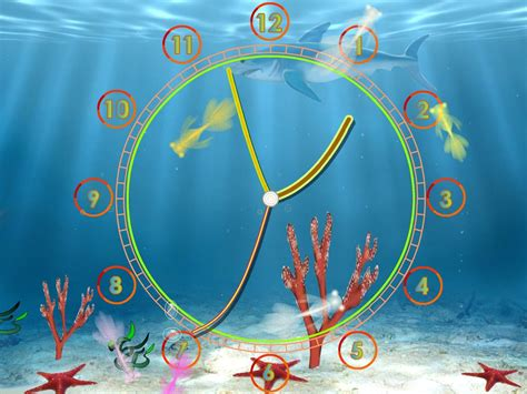 live time themes download aquarium clock live animated wallpaper from