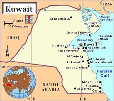 kuwait iraq map iraq kuwait
