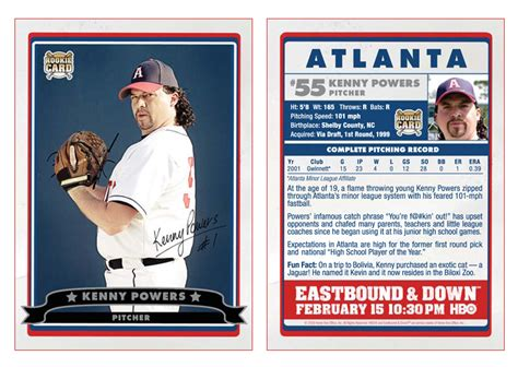 powers card template kenny powers stats la flama blanca en america