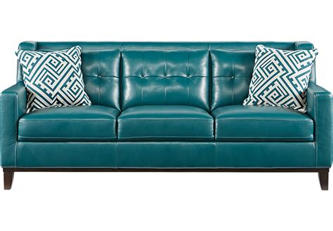 Teal Colored Couches by Turquoise Leather Sofa Alexandria Tufted Leather Sofa