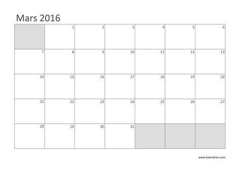 I Calendrier Mars 2016 Imprimer Calendrier 2016 Gratuitement Pdf Xls Et Jpg
