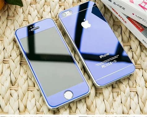 Promo Iphone 4g4s 3d Gold Tempered Glass For Iphone iphone 4 4s 5 5s 6 plus mirror tempered glass screen protector 11street malaysia screen