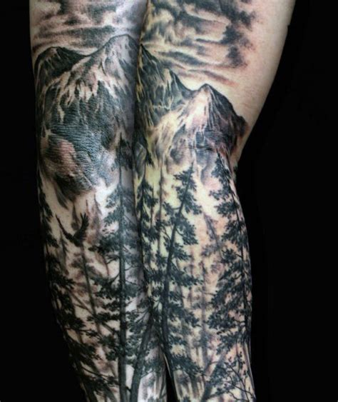 40 mountain tattoo designs for men climb the highest peak