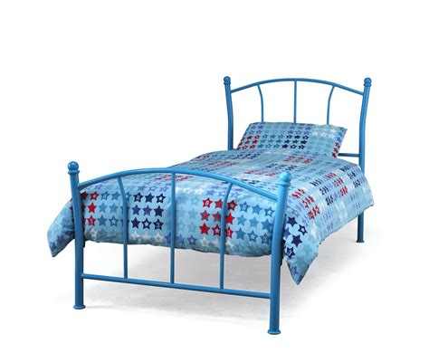 metal toddler bed frame penelope blue metal bed frame uk delivery