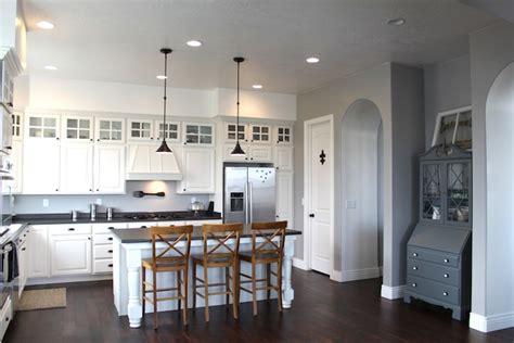 grey walls in kitchen gray wall paint transitional kitchen benjamin moore