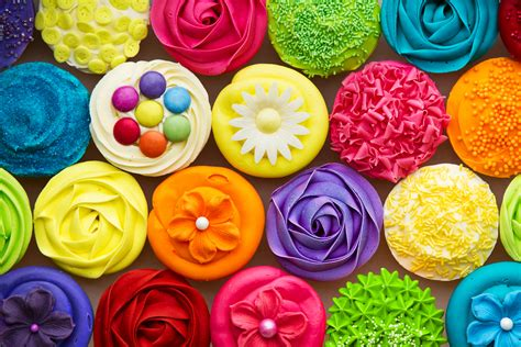 wallpaper colorful sweet cupcakes delicious rainbow colorful color sweet