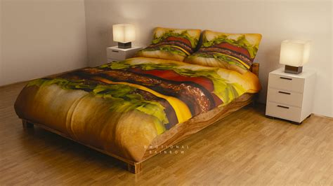 food bed would you sleep on this hamburger bed how2becool