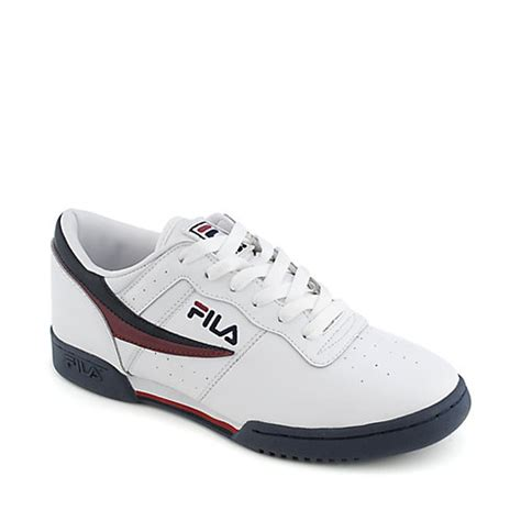fila s tennis shoes fila original fitness lea mens athletic tennis shoe