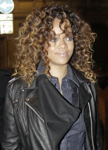 curly hairstyles rihanna rihanna curly hair styles celebrity long curly