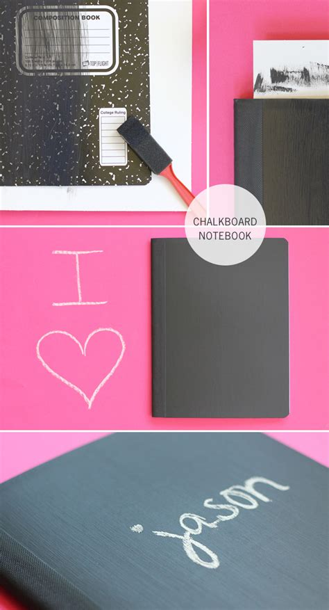 Back To School Chalkboard Notebook A Craft In