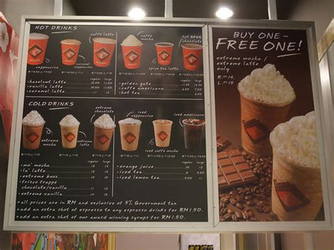 Coffee Bean Malaysia coffee bean malaysia menu prices the coffee table