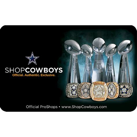 gift cards other accessories accessories cowboys catalog dallas cowboys pro shop - Cowboys Gift Card