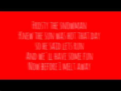 frosty snowman lyrics printable version frosty the snowman lyrics k5 kids version youtube