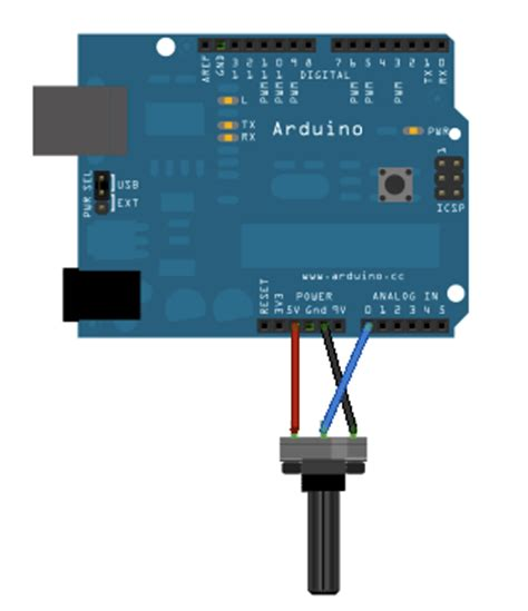 variable resistor reading arduino analogreadserial