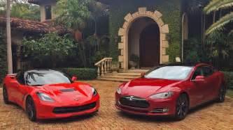 Tesla S Drag Race 2013 Tesla Model S P85 Vs 2014 Chevrolet Corvette C7 Z51