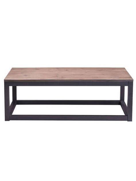 troop square wood rectangular coffee table modern