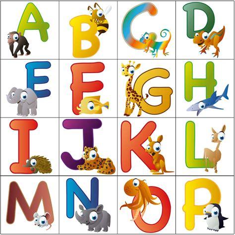 Buchstaben Sticker Kinder by Wandsticker Lustige Tierbuchstaben