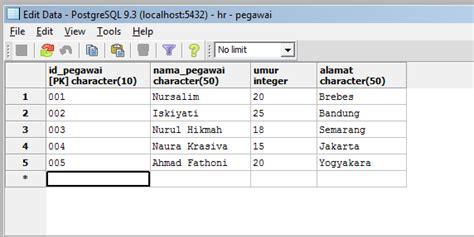 tutorial php postgresql menggunakan select query di postgresql tutorial dasar