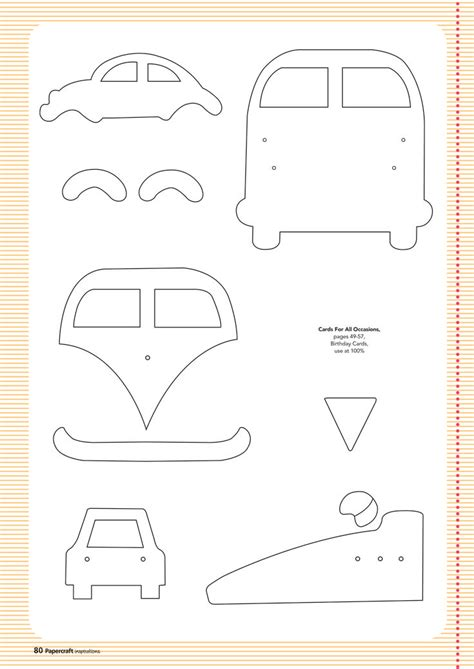 felt vw pattern bus papercraft pinteres