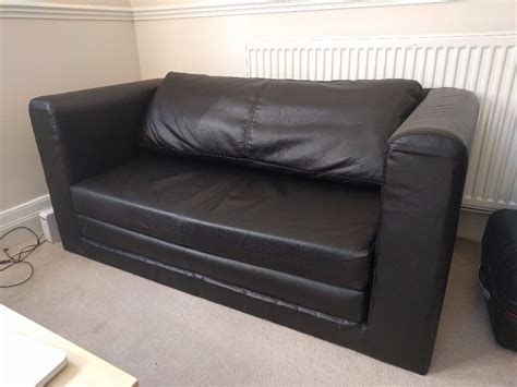 Two Seater Sofa Bed Ikea by Two Seat Sofa Bed Ikea Askeby Black Excellent Condition