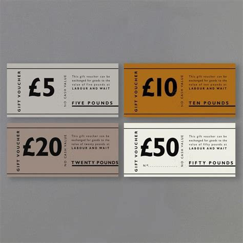 discount vouchers london gift card typography