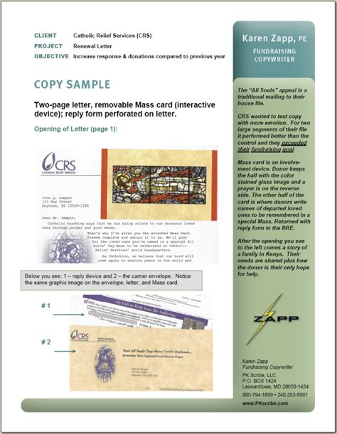 Fundraising Renewal Letter Portfolio Sle Appeal Letter Catholic Relief Services