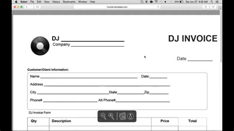 How To Make A Disc Jockey Dj Invoice Excel Word Pdf Youtube Dj Invoice Template