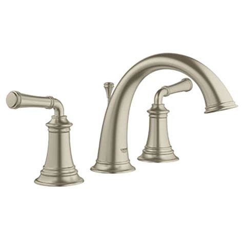Widespread Kitchen Faucet Shop Grohe Gloucester Brushed Nickel 2 Handle Widespread Bathroom Sink Faucet At Lowes