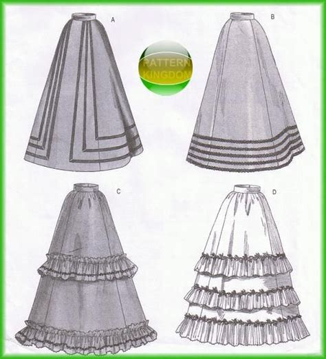 sewing pattern victorian skirt butterick 3418 period authentic victorian skirt dress