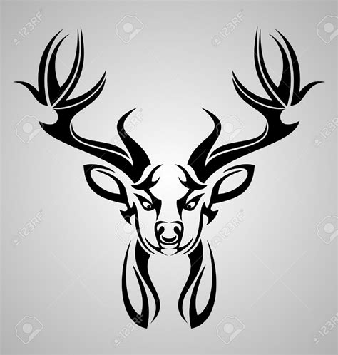 tribal buck tattoos the gallery for gt tribal deer design stylized