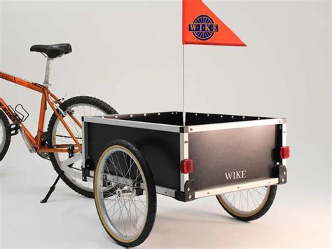 bicycle trailer cargo buddy bicycle trailer wike bicycle trailers the walk and bike company