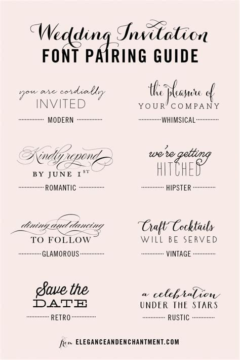 17 Best ideas about Wedding Invitation Fonts on Pinterest