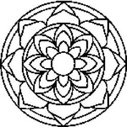 Jewish mandalas colouring pages