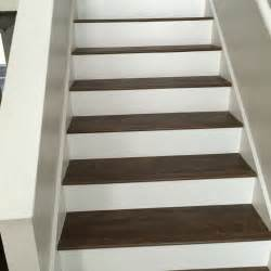 luxury vinyl plank on stairs with white risers luxury vinyl plank vinyl tile pinterest
